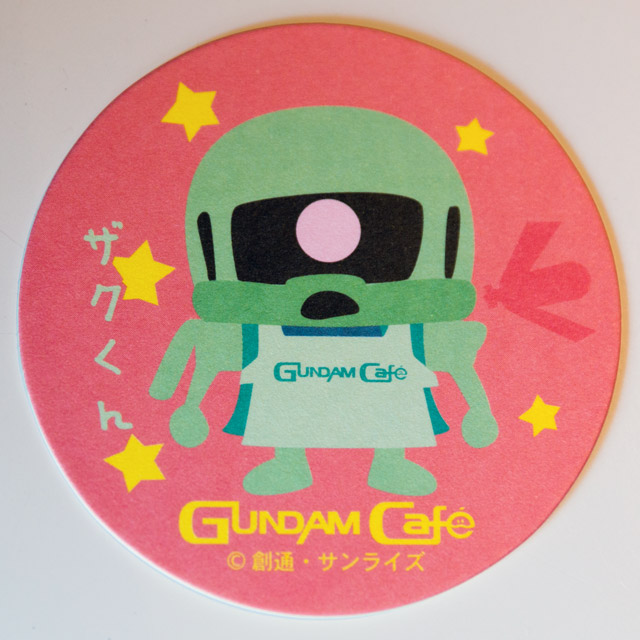 drink coaster featuring chibi zaku