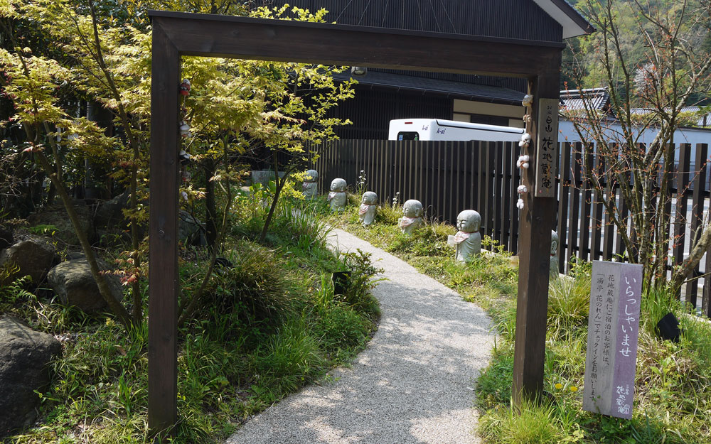 jizo statues in kinosaki