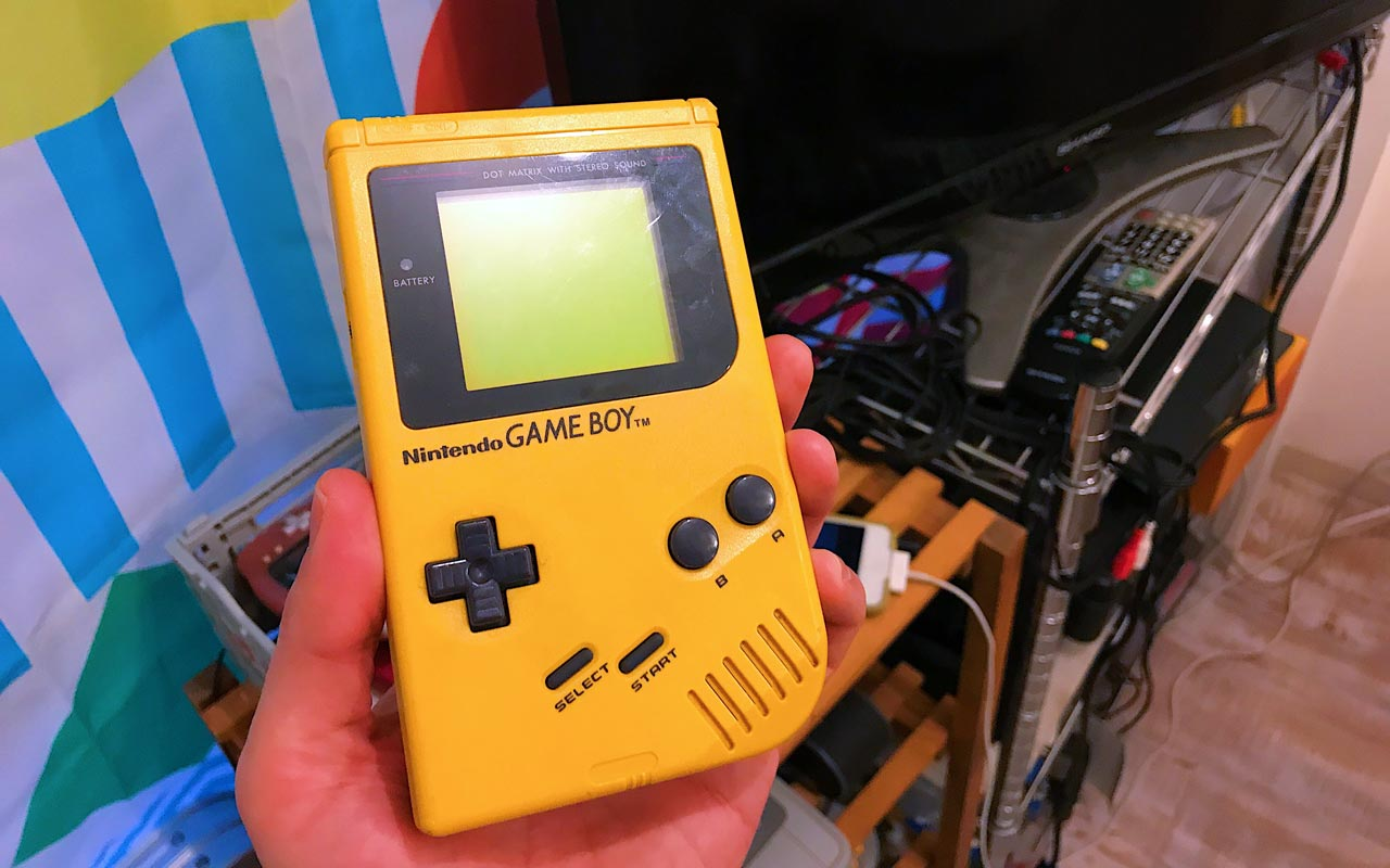 yellow game boy