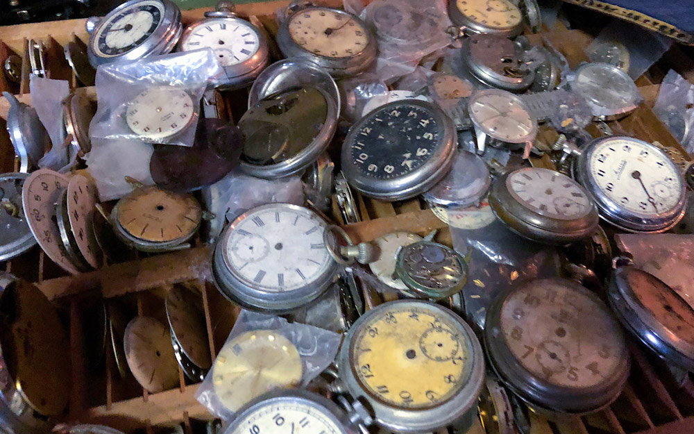 pile of clocks