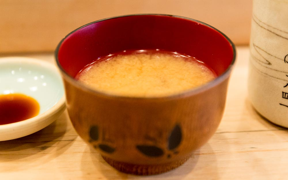miso soup in a bowl