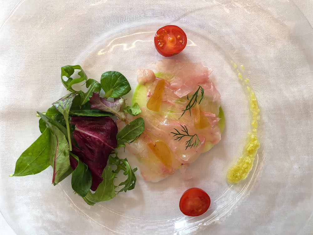 carpaccio made of fish