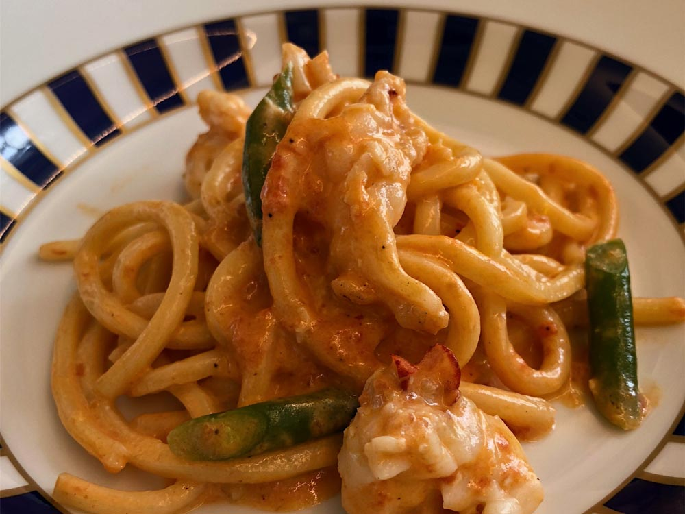 spaghetti made at ristorant massa