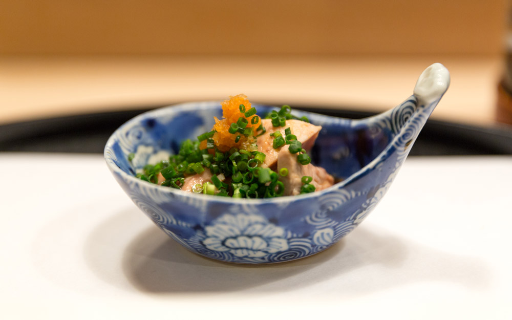 monkfish liver dish in ginza