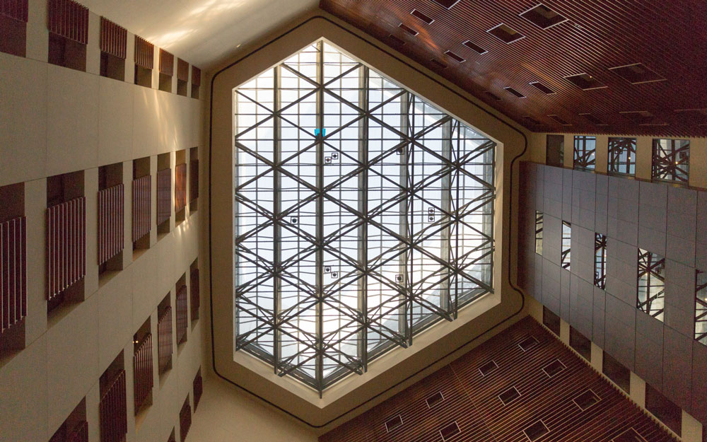 large skylight in park hotel tokyo
