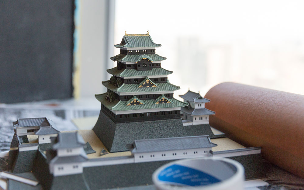 scale model of edo castle