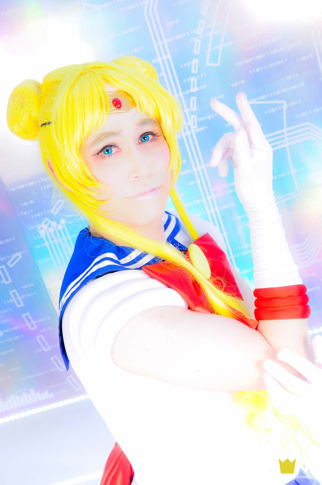 studio crown professional photo of sailor moon cosplay