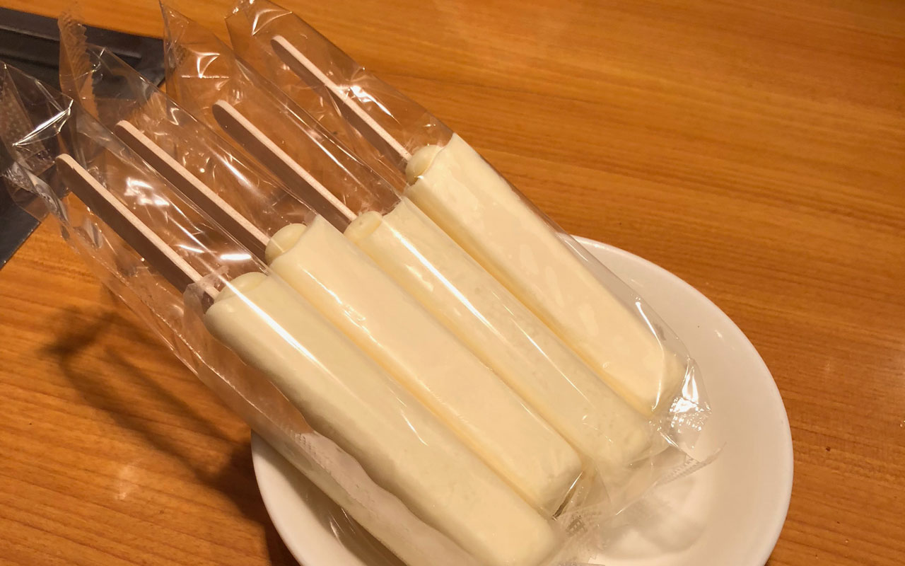 bowl of milk popsicles
