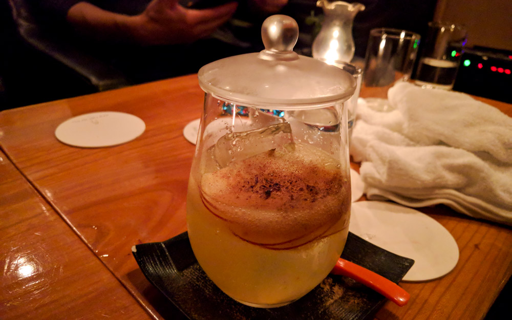 fancy fresh apple cocktail