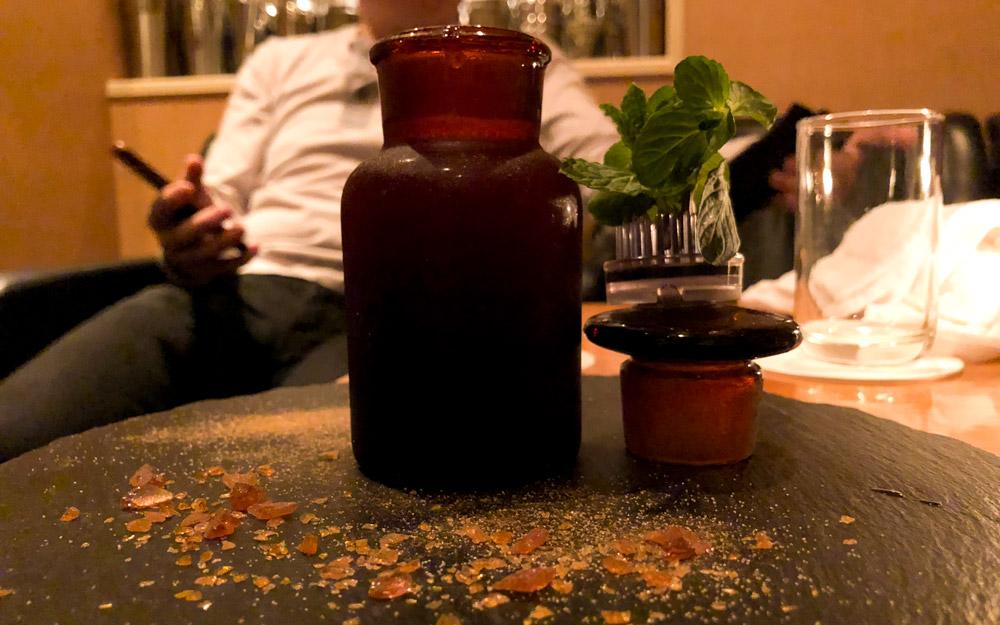 booze in a potion shaped bottle