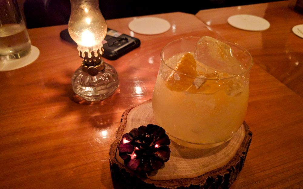 cocktail made with yuzu