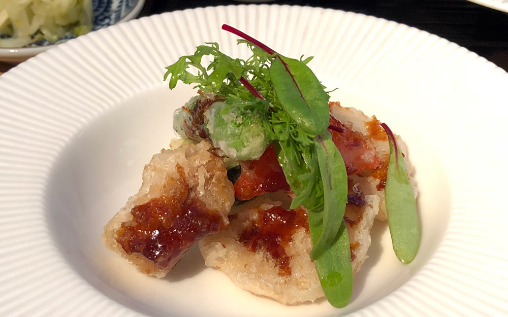 tempura served in ginza tokyo