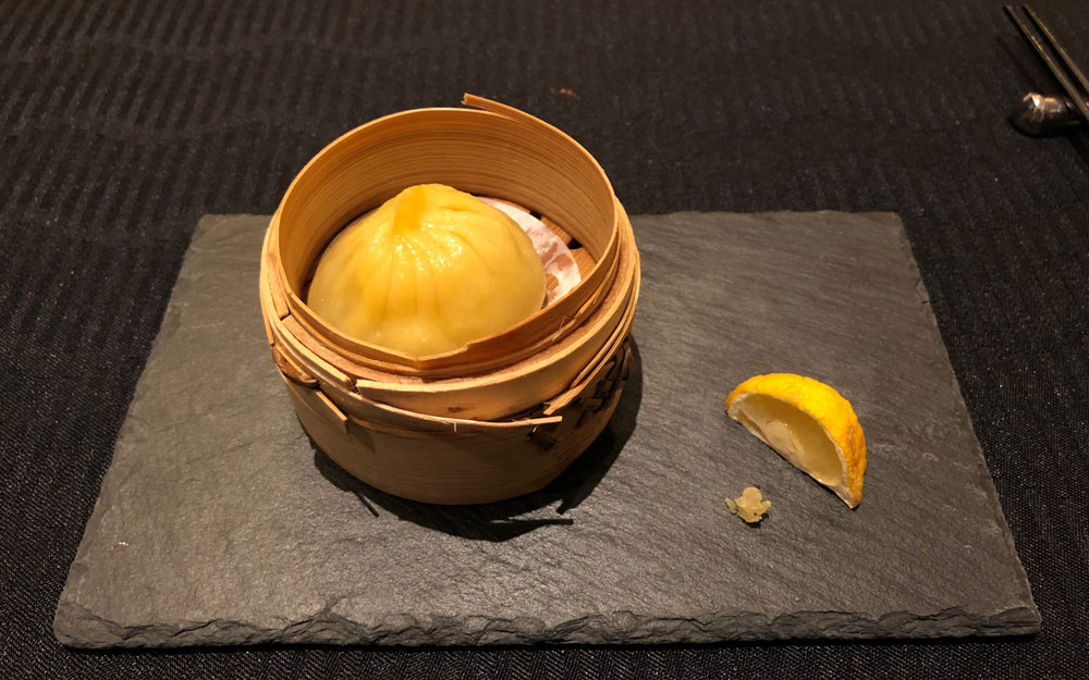 chinese steamed bun with yuzu