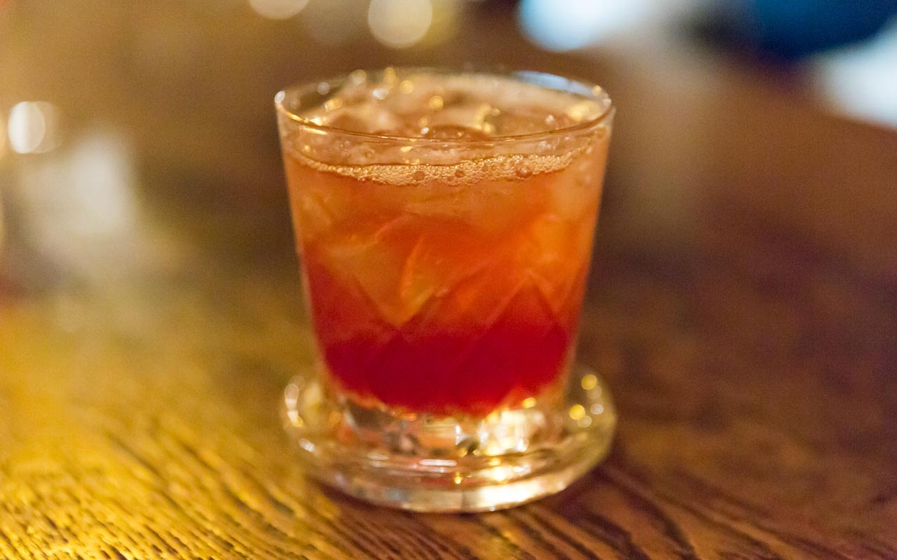 charlie chaplin cocktail served at bar lupin