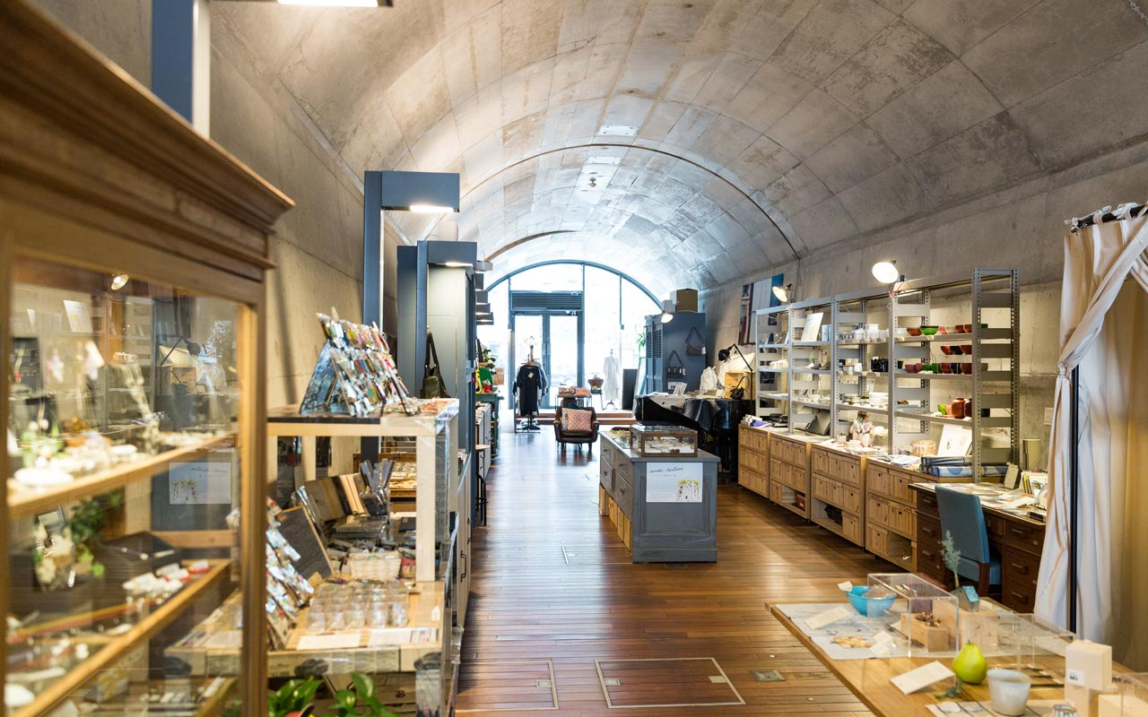trendy shop filled with japanese handicrafts