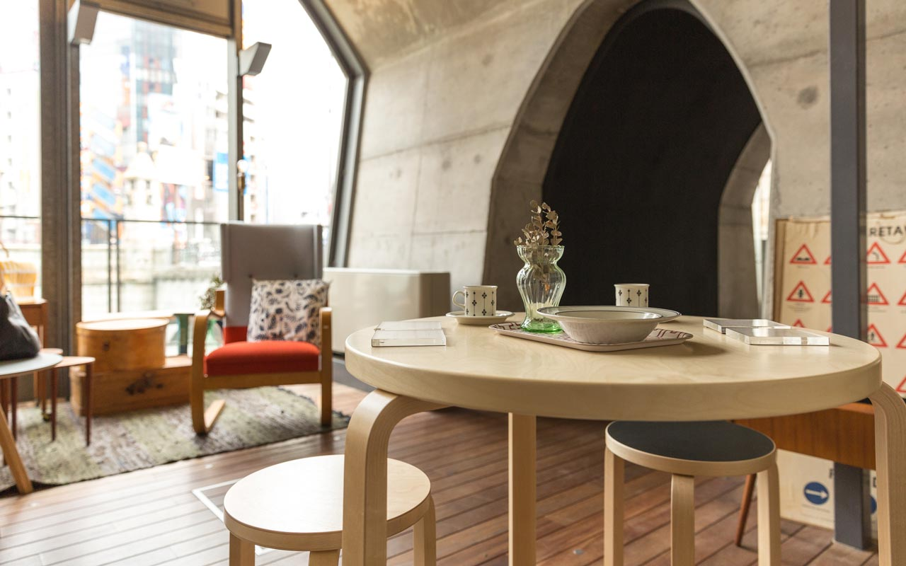 beautiful japanese table and chairs inside maach ecute