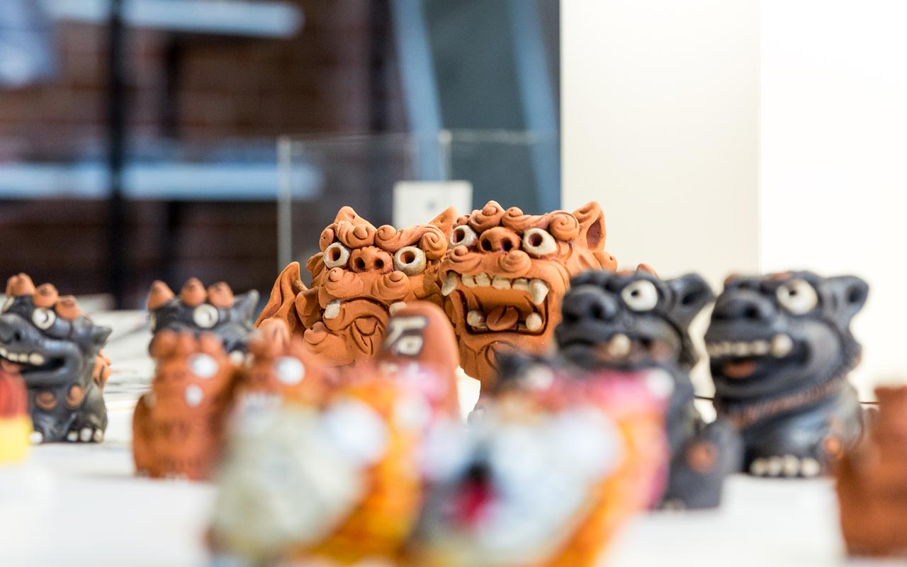 handmade japanese komainu statues sold at maach ecute