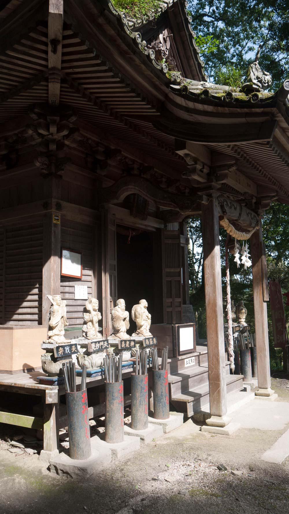 japanese temple at iwatoyama kanzeonji