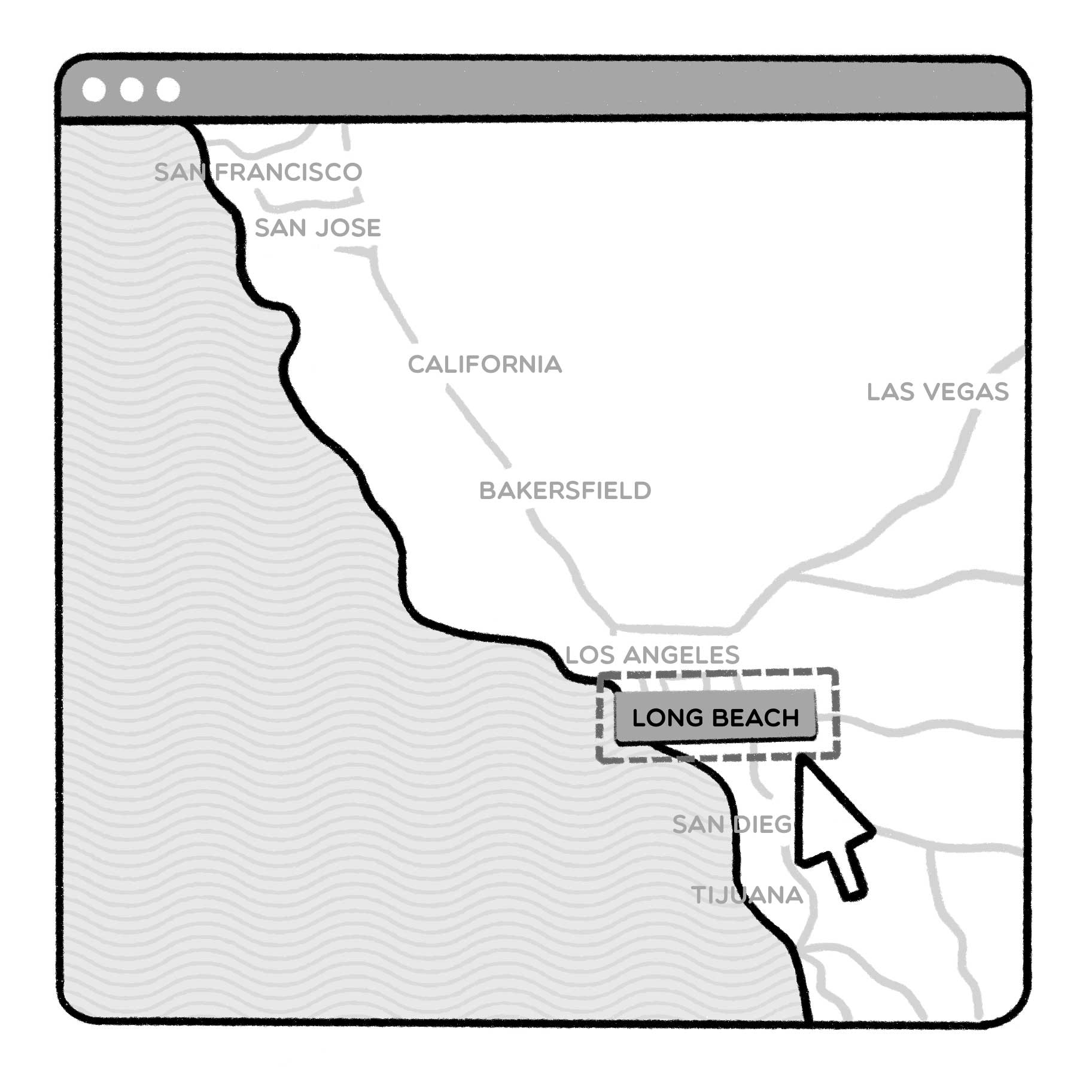demarcating Long Beach with a specification tool