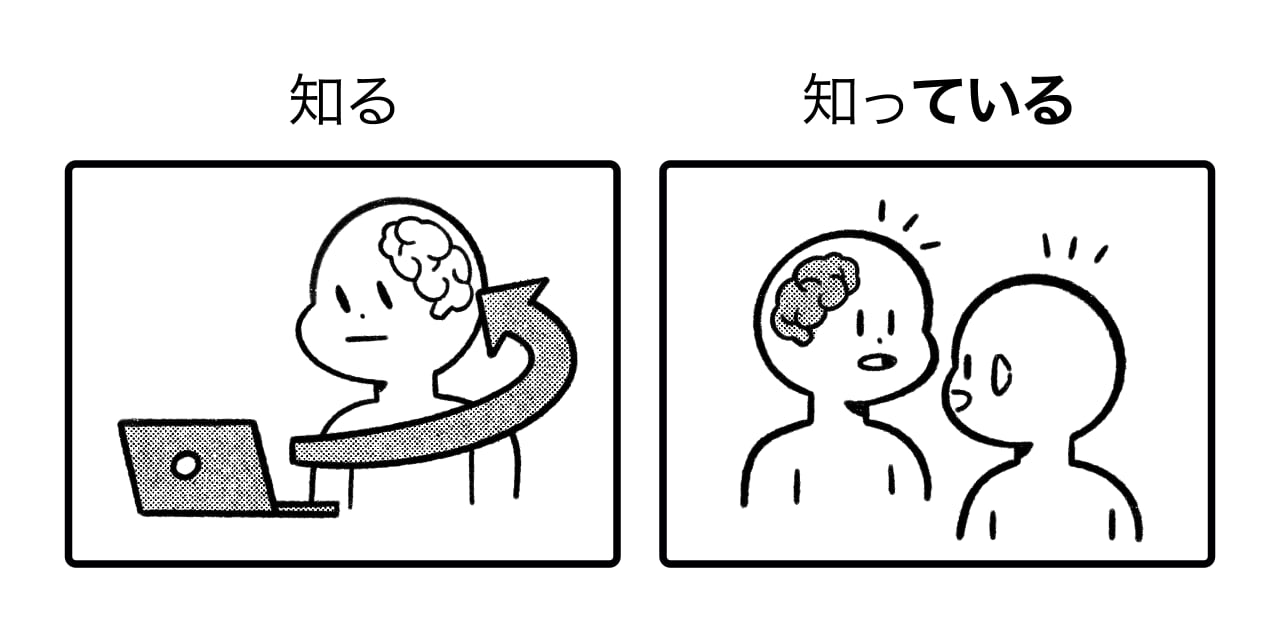 difference between 知る and 知っている